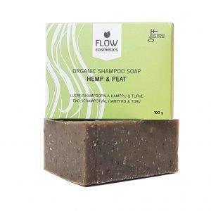 Flow tahke šampoon kanepiõli ja turbaga 100g